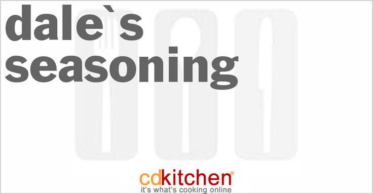 A recipe for Dale's Seasoning made with soy sauce, ground ginger, salt, sugar, garlic powder, garlic, Worcestershire sauce