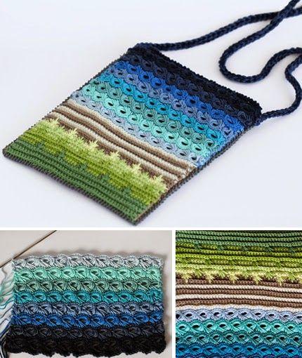 Crochet Bag Pattern and Broomstick Crochet Tutorial