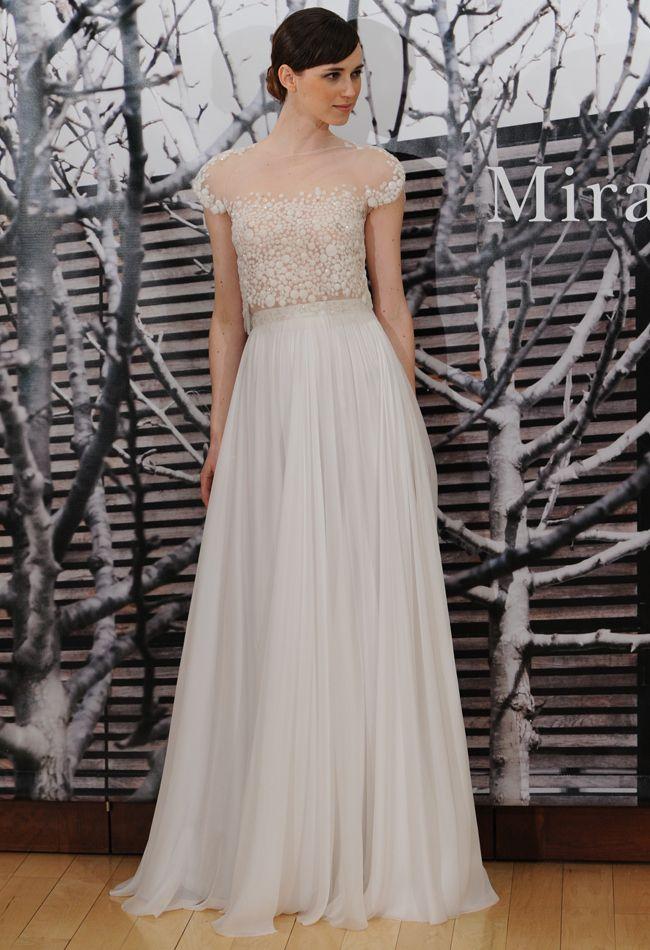 Mira Zwillinger Fall 2014 #wedding #dress #weddingdress |The Knot Blog