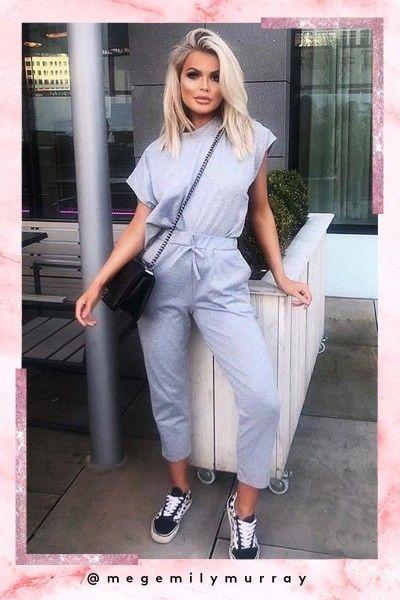 ae60f105de Sara Grey Short Sleeve Boxy Loungewear Set