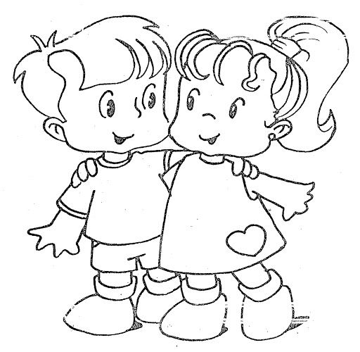 Coloring Pages: Friendship - free coloring pages