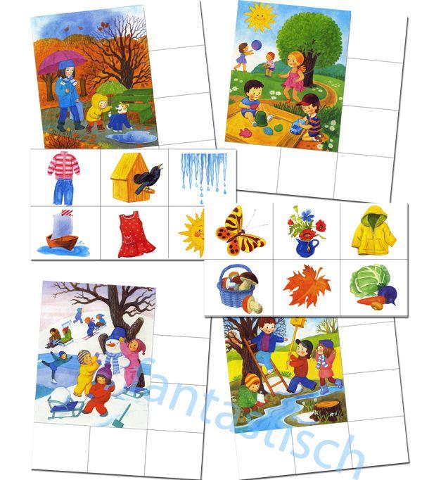 "Didactique jeu loto ""Seasons"""