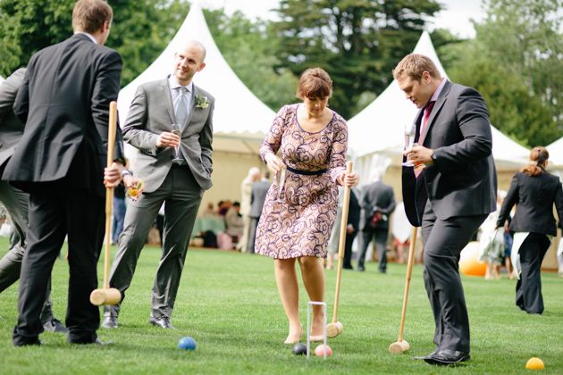 Some lawn games perfect for an english garden wedding