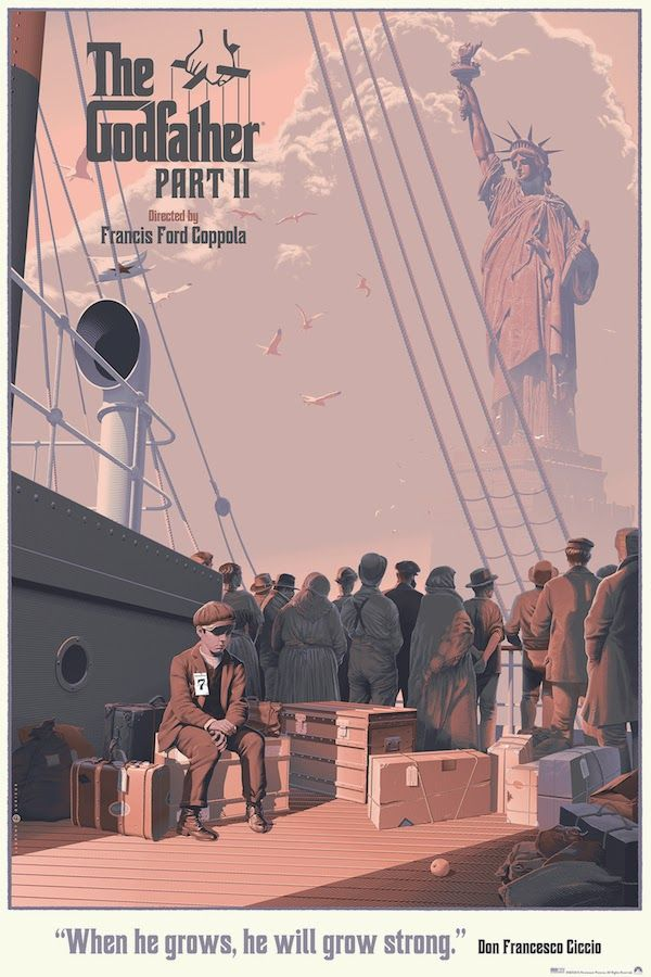 The Godfather Part 2 ~ Alternative Movie Poster by Laurent Durieux #amusementphile