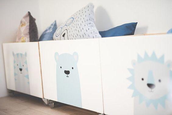 Pecho gran juguete de madera caja de juguete de la por NOBOBOBO