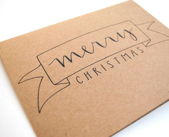 merry christmas banner card from sparrow nest script
