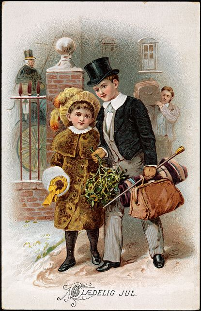 (Merry Christmas) Glædelig Jul, ca 1889 by National Library of Norway, via Flickr
