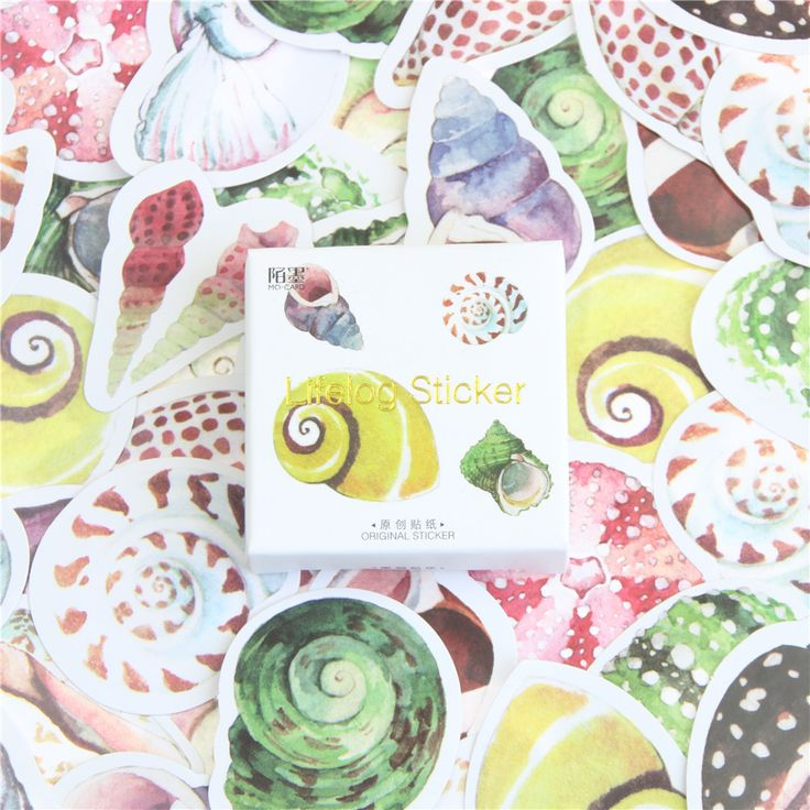 >> Click to Buy << 45 Pieces / Box Of Mini Shell Stickers Card Wow Iraq Decorative Stationery Stickers Diy Album Diary Clip Label Stickers #Affiliate