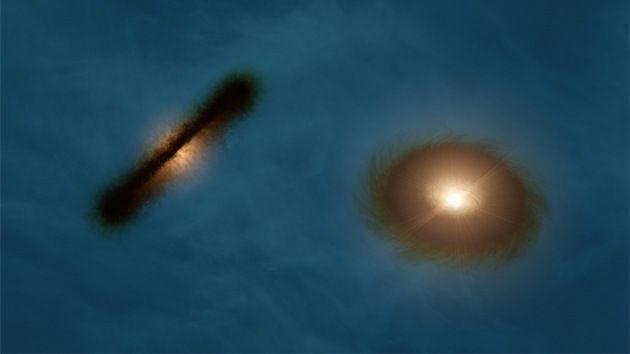 Hallan un par binario de estrellas con un extraño disco de formación de planetas – RT