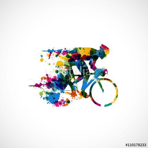 Wektor: graphisme vélo coloré