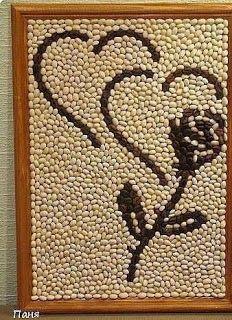 Haz lindos cuadros decorativos para tu hogar usando semillas ~ lodijoella