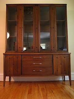 Broyhill China Cabinet This MCM Is From The Popular Saga Series And Highlighted By Star Detail Batwing Scul