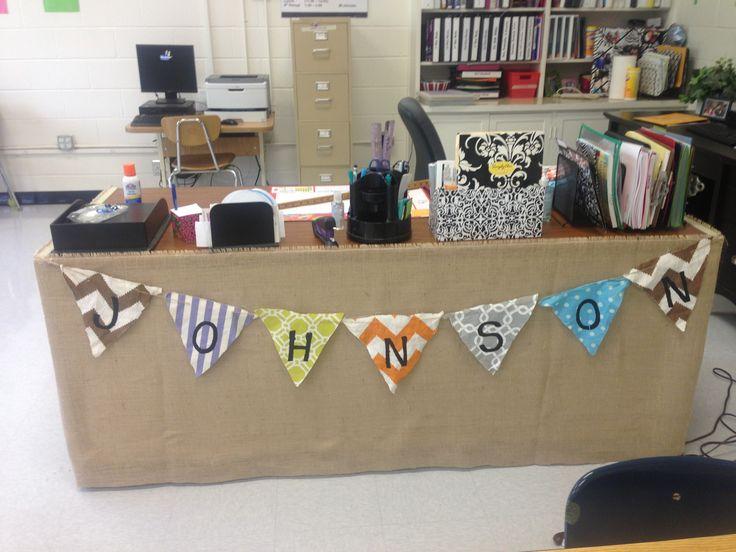 Classroom Table Name Ideas ~ Best decorate teacher desk ideas on pinterest