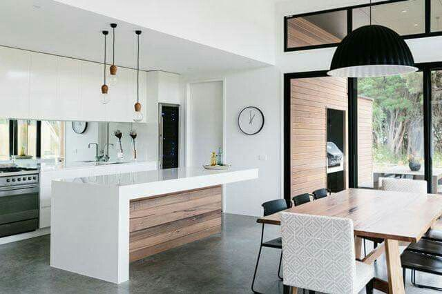 This is an absolutely stunning idea for kitchen and dining room. Open space. Amazing