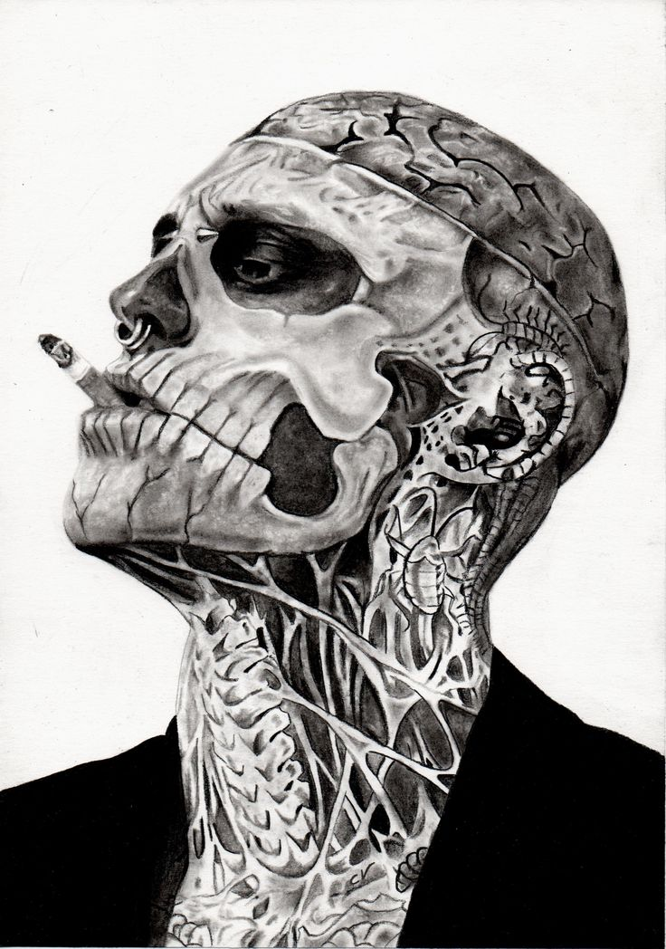 Good headshot of Zombie Boy, Rick Genest - find it disturbing that I'm slightly in love with him.