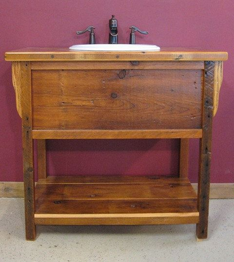Photo Gallery For Website Reclaimed Barn Wood Bathroom traditional bathroom vanities and sink consoles other metro by Vienna Woodworks