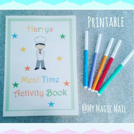 Reward Chart Printable meal time chart fussy eater by MyMagicMail