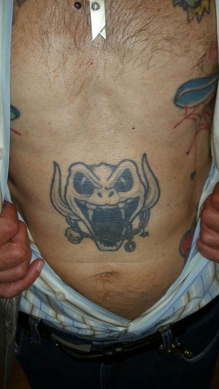 Werner trägt seit 10 Jahren unser Logo am Bauch. Mehr Treue geht nicht! Danke Werner #rattlesnake #tattoo #customer #amazing
