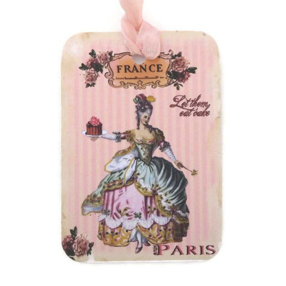Marie Antoinette Tags Paris Gift Hang Let by EnchantedQuilling