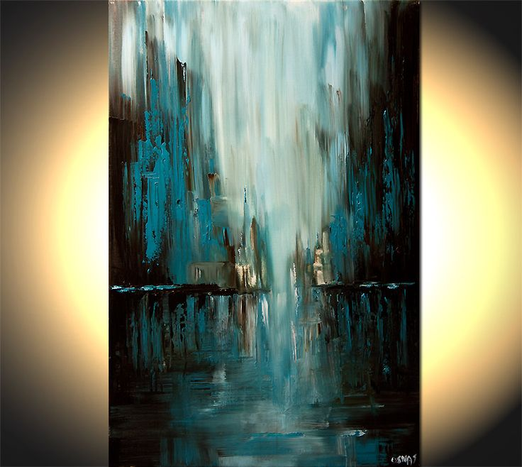 Quot Rainy Day Quot Original Abstract Art Paintings By Osnat