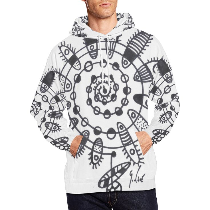 FLOR CRECIÉNDO DE LA NADA 001 All Over Print Hoodie for Men/Large Size (USA Size) (Model H13)