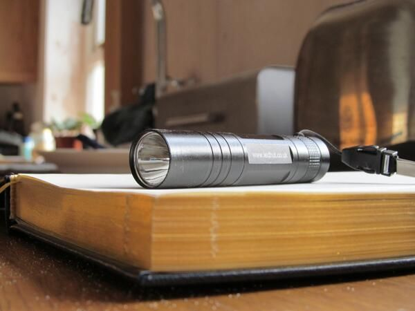 A very nice picture of our legendary LED torch - it's a bright little thing ;o)