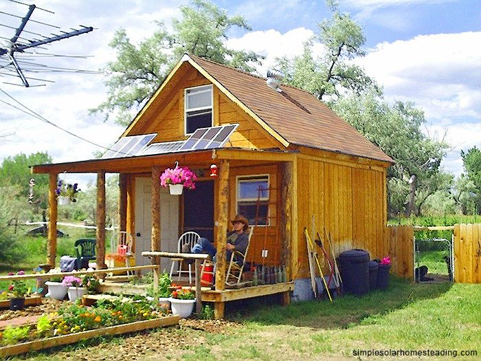 How To Build a 400sqft Solar Powered Off Grid Cabin for $2k! Inexpensive first home on newly bought land; place to live until bigger house is built. After family outgrows cabin, it could become a playhouse, guesthouse, or live-in area for older children while transitioning from high school to college. Such a great idea!