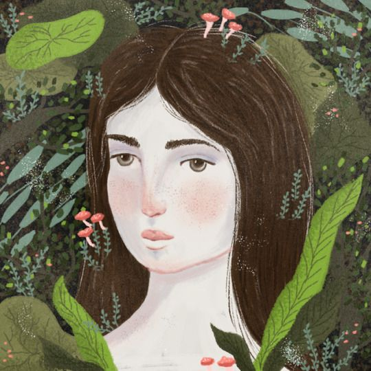 Girl and plants by Daniela William