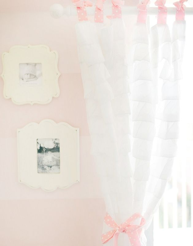White Ruffled Curtain Panels In 2018 Trending Home Styles Pinterest Ruffle Curtains And Nursery