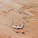 Pascal Mini Bird Necklace In Gold & Silver - necklaces & pendants