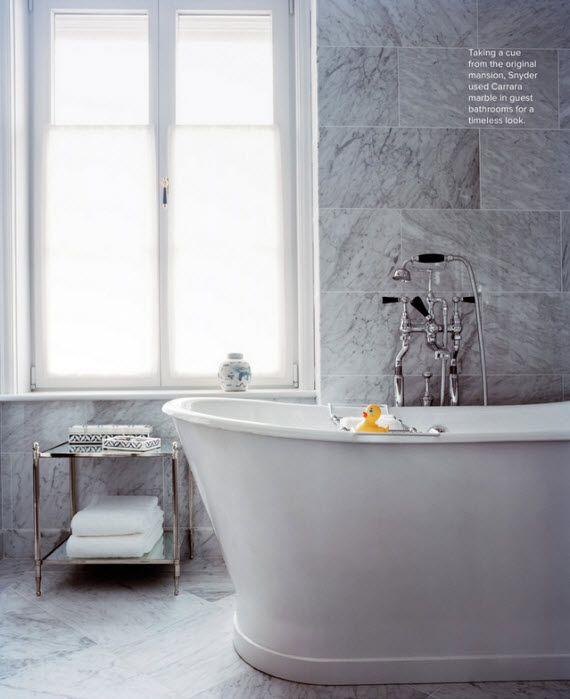 chic marble bathroom tile // via Lonny Mag