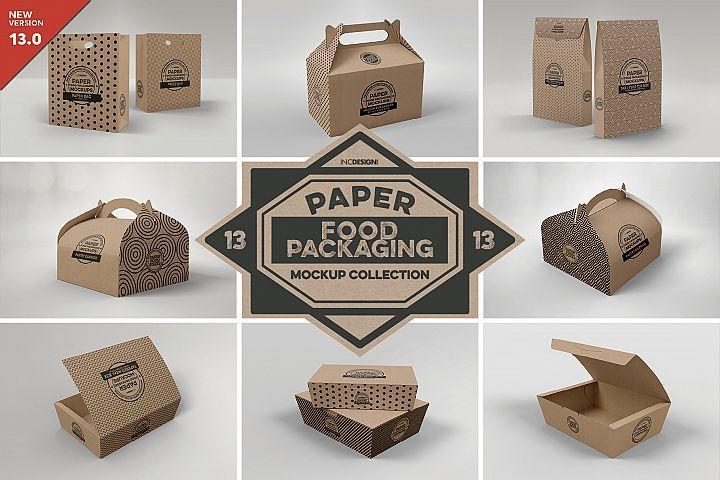 Vol 13 Food Box Packaging Mockups 172794 Branding Design Bundles In 2021 Packaging Mockup Food Box Packaging Design Mockup Free