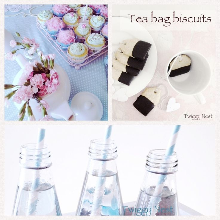 high tea tea bag biscuits