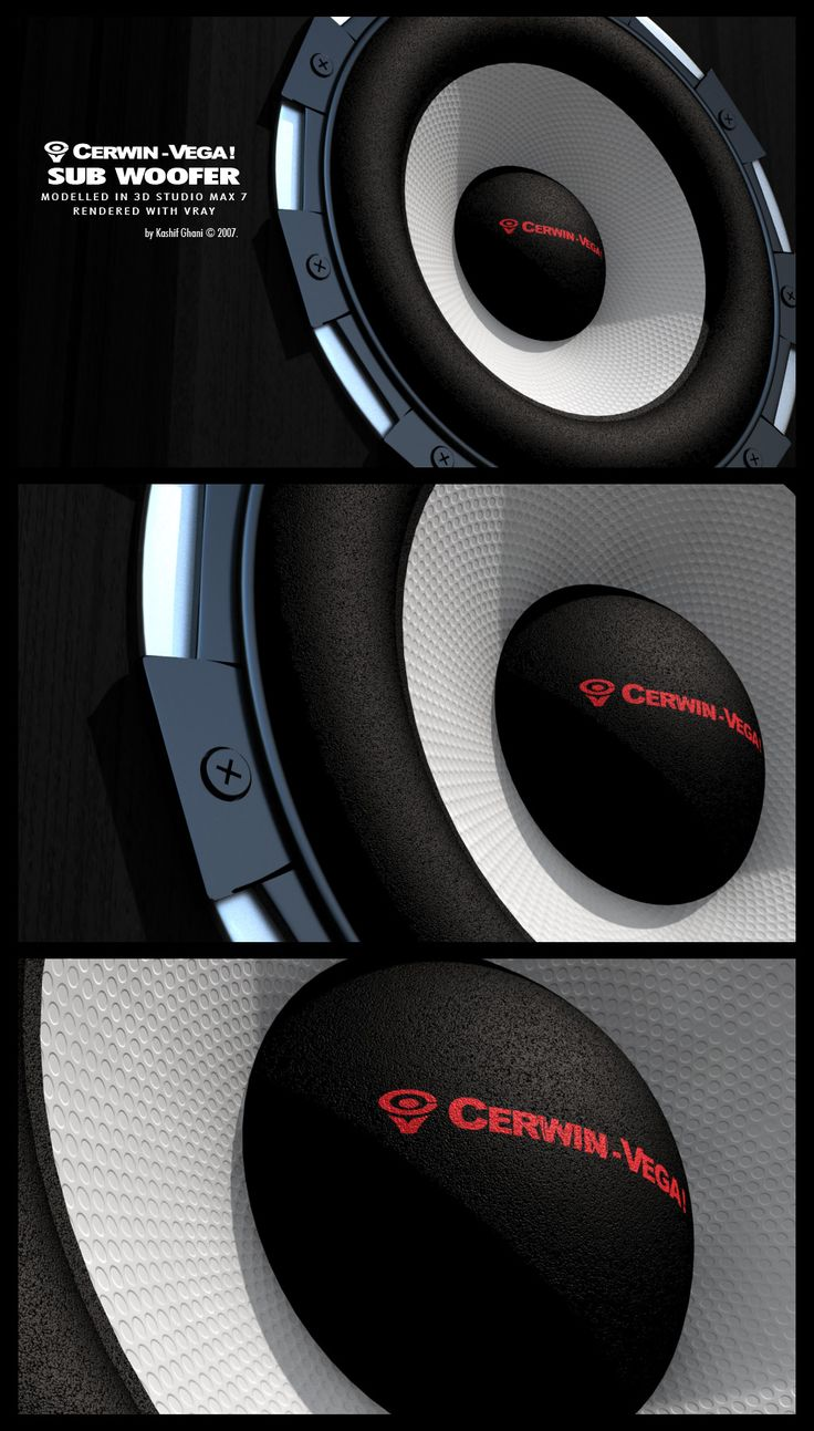 Speakers in 3D max