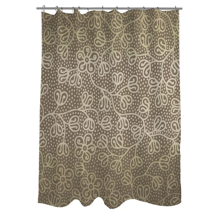 Thumbprintz Deer Elegance Filigree Shower Curtain