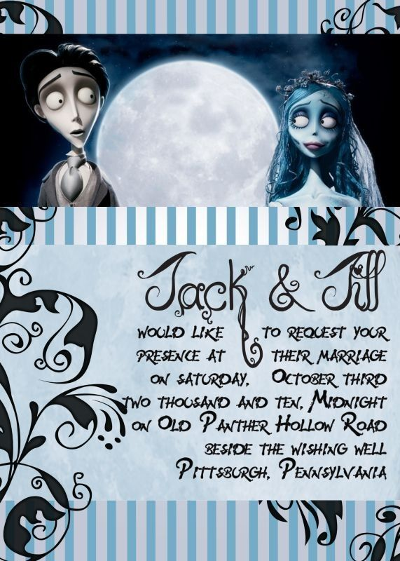 corpse bride wedding invitations | if you want an affordable way to invite your guests you've come to the ...