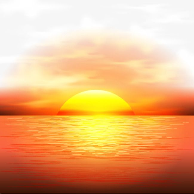 Vector Sunset Maritime Dusk Sun Png And Vector Sunrise Pictures Sunset Clipart Images