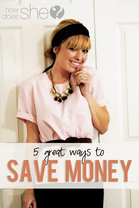 5 Awesome ideas to save money. Includes: around the house, gift ideas, recipes, thrifting, shopping and more! Check out her guest post on couponing basics - great tips!