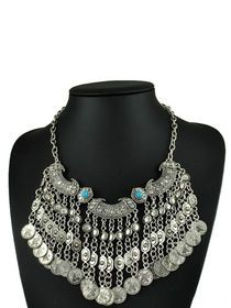 Vintage Carving Exotic Features Tassel Necklace img