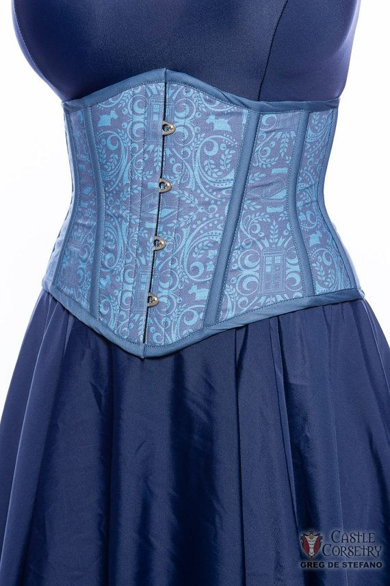 Doctor Who Wallpaper Waist Cincher by CastleCorsetry on Etsy