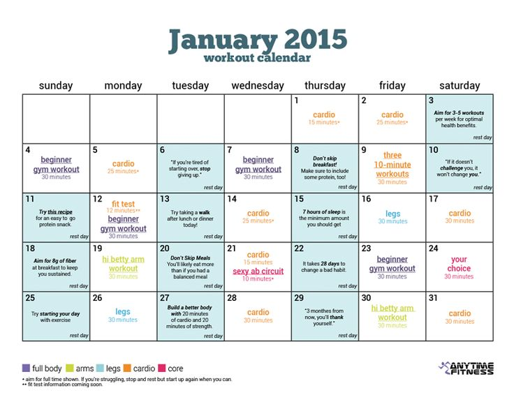 Workout Calendar For Gym : Best workouts images on pinterest exercise