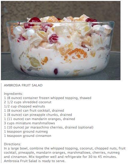 Ambrosia Fruit Salad.....