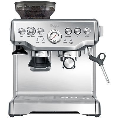 Sage by Heston Blumenthal Sage by Heston Blumenthal Barista Express Bean-to-Cup Coffee Machine with Temperature Control Milk Jug, Stainless Steel