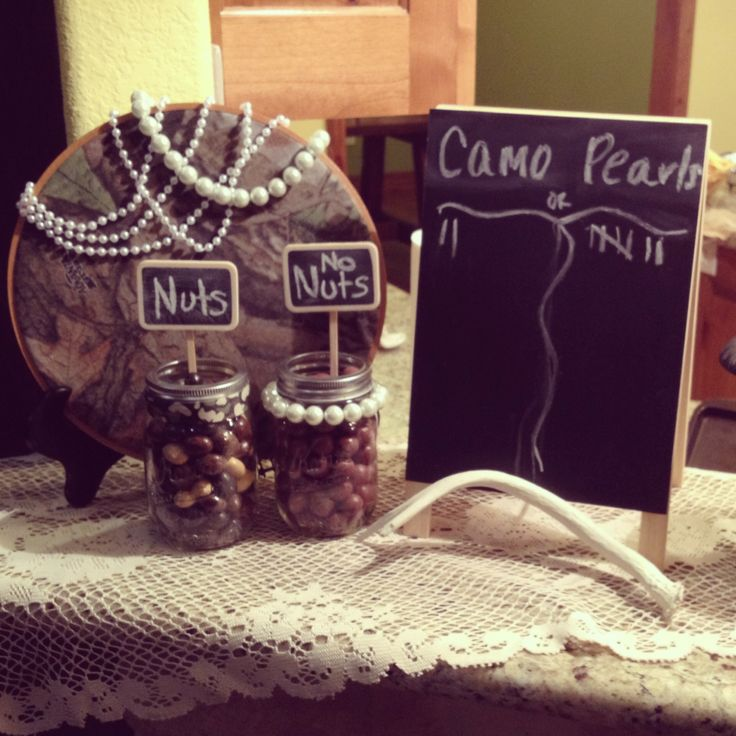 Camo or pearls, buck or doe gender party
