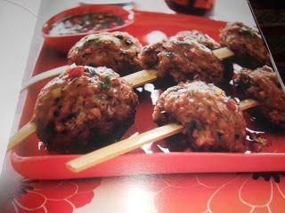 Le Chef Pierre D'Iberville: BOULETTES DE VIANDE À LA CHINOISE avec sauce chili...