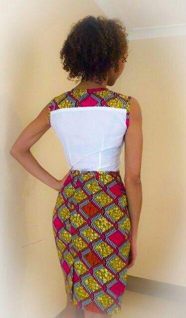 Ensemble chaud rose africain impression crayon par AfroCoutureUK