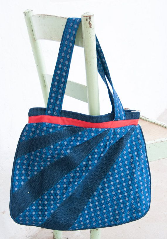blue and red south african shweshwe and denim dream boho bag hobo bag messenger diaper bag. Black Bedroom Furniture Sets. Home Design Ideas