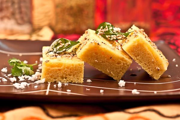 Gujarathi style Khaman Dhokla is the most common dish that is made and loved by all households all over India it can be made for breakfast served as a great starter for parties and lunch meal packed into kids lunch box as well. Serve with Dhaniya Pudina Chutney.  Click here for Recipe: http://ift.tt/1nLPjBz #Vegetarian #Recipes