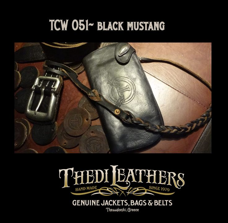 #thedileathers #leather #handmade #chainwallet #black #blackmustang  #TCW051 #thediwallet www.thedileathers.com