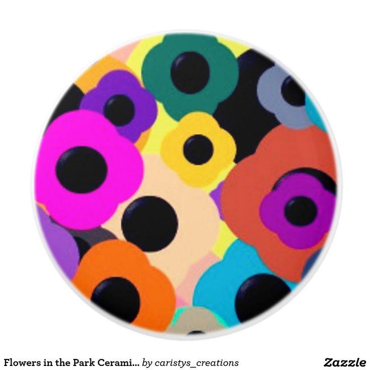 Flowers in the Park Ceramic Knobs and Pulls Ceramic Knob